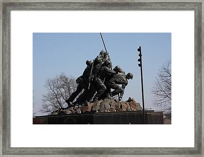 Iwo Jima Memorial - 12122 Framed Print by DC Photographer