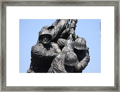 Iwo Jima Memorial - 12124 Framed Print