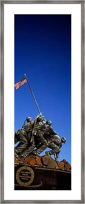 Iwo Jima Memorial At Arlington National Framed Print by Panoramic Images