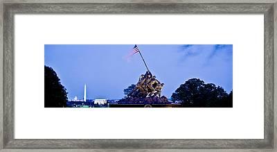 Iwo Jima Memorial At Dusk Framed Print by Panoramic Images