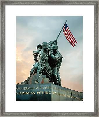 Iwo Jima Memorial Framed Print by Dawn Romine