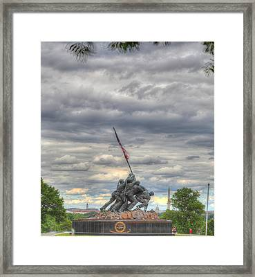 Iwo Jima Memorial - Washington Dc - 01131 Framed Print