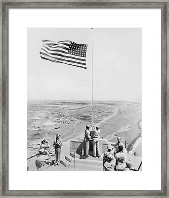 Iwo Jima Moument Framed Print by Underwood Archives