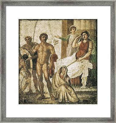 Ixion Holding The Wheel In The Presence Framed Print