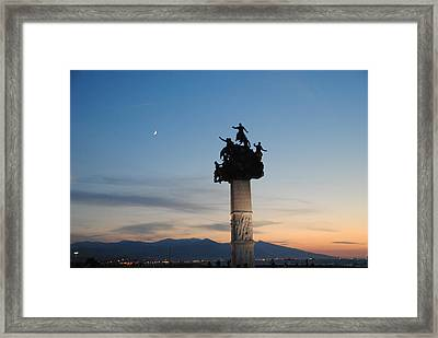Izmir War Monument On Kordon Framed Print by Jacqueline M Lewis