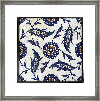 Iznik Tile Framed Print by Celestial Images