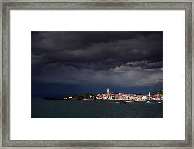 Izola In The Eye Of A Storm Framed Print
