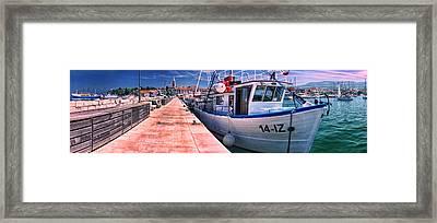 Izola Panorama Framed Print