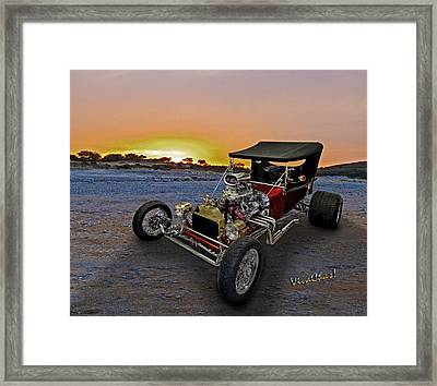 J B T Bucket Sunset Framed Print