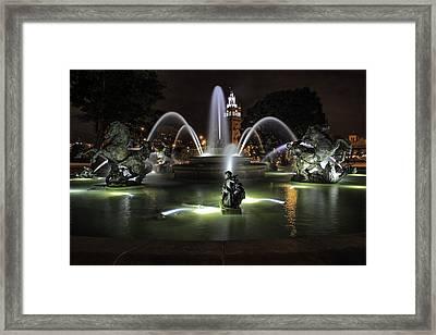 J C Nichols Fountain Framed Print by Lynn Sprowl