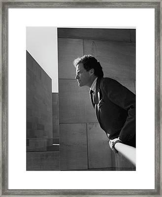 J. Carter Brown At A Museum Framed Print by Horst P. Horst