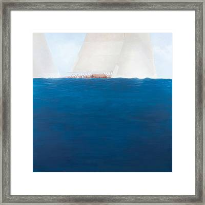 J Class Racing, The Solent Framed Print by Lincoln Seligman