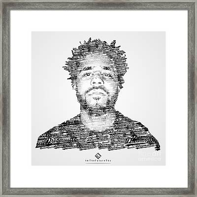 J. Cole X Dreamville X Imthefuturetho Framed Print by Joel Escamilla