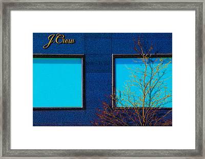 J Crew Framed Print