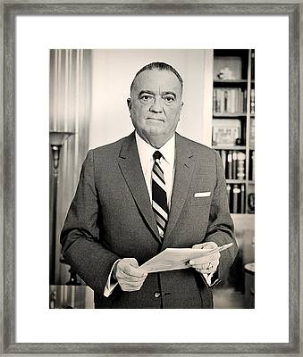 J Edgar Hoover 1961 Framed Print