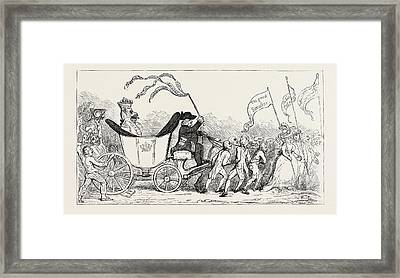 J. Gillray The Pacific Entrance Of Earl Wolf Lord Lonsdale Framed Print by English School