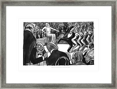 J. G.'s A Card All Right When He Gets To New York Framed Print by Peter Arno