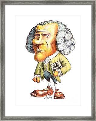 J.-j. Rousseau, Swiss-french Philosopher Framed Print