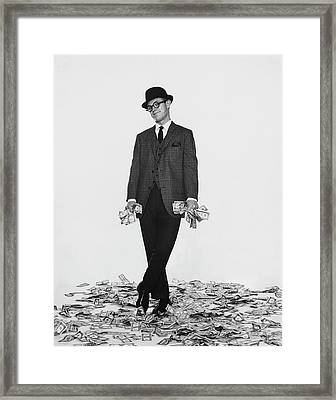 J. Kittlewood Thaxter IIi Standing On A Pile Framed Print by Chadwick Hall