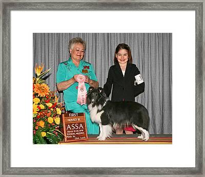 J5 1st Novice Junior Grace Szczurek Framed Print