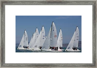 J70 Start San Francisco Framed Print