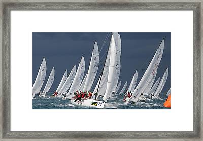 J70s At The Weather Mark Framed Print