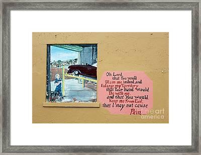 Jabez Window Framed Print by Joe Jake Pratt