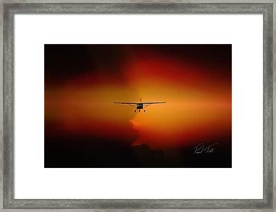 Jabiru Sunset Framed Print