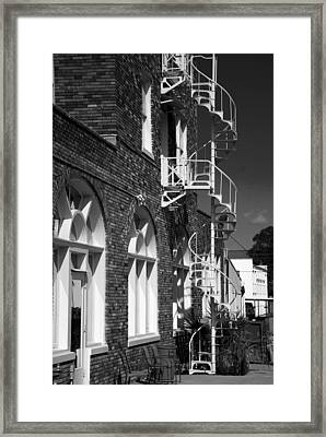 Jacaranda Hotel Fire Escape Framed Print