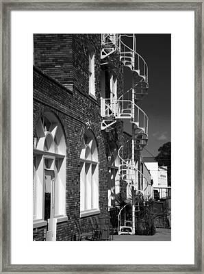 Jacaranda Hotel Fire Escape Framed Print by Beverly Stapleton
