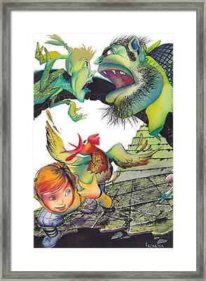 Jack And The Beanstalk-3 Framed Print