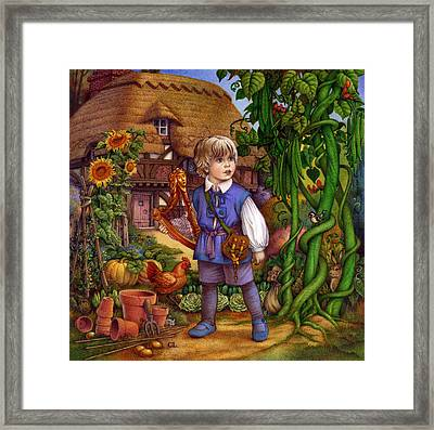 Jack And The Beanstalk By Carol Lawson Framed Print by Carol Lawson
