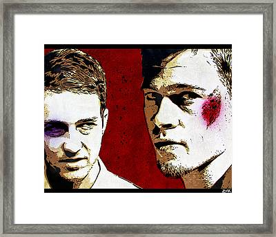 Jack And Tyler Framed Print by Bobby Zeik