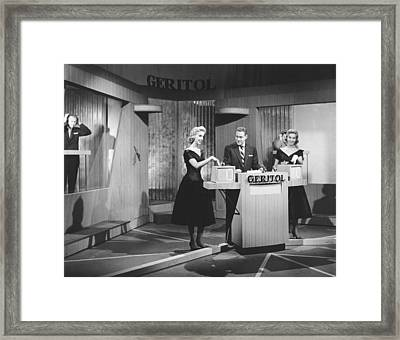 Jack Barry Host Of Twenty One Framed Print by Underwood Archives