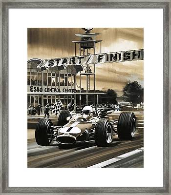 Jack Brabham Wins The First Ever Canadian Grand Prix Framed Print