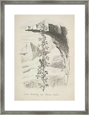 Jack Climbing The Bean Stalk Framed Print by British Library