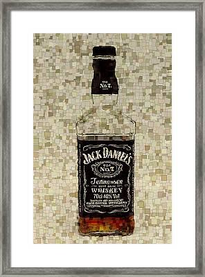 Jack Daniel's Cubism Framed Print by Dan Sproul