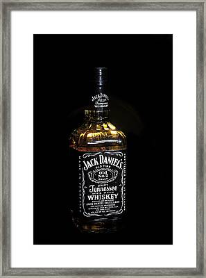 Framed Print featuring the photograph Jack Daniel's Old No. 7 by James Sage
