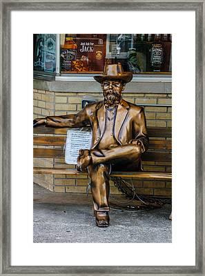 Jack Daniel's Statue Framed Print