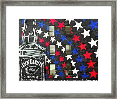Jack Daniel's Wall Art Framed Print by Joan Reese