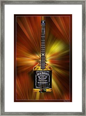 Jack Daniels Whiskey Guitar Framed Print