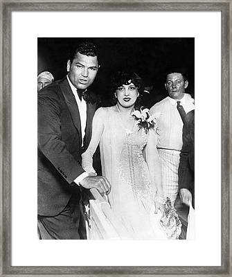 Jack Dempsey & Estelle Taylor Framed Print by Underwood Archives