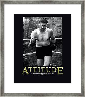 Jack Dempsey Attitude Framed Print by Retro Images Archive