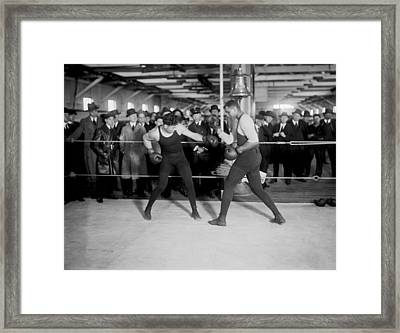 Jack Dempsey Sparring Framed Print by Underwood Archives