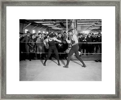 Jack Dempsey Sparring Framed Print