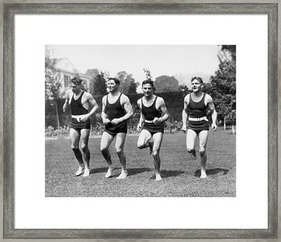 Jack Dempsey Works Out Framed Print by Underwood Archives