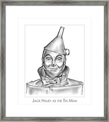 Jack Haley As The Tin Man Framed Print by Greg Joens