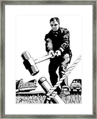 Jack Hammer Framed Print