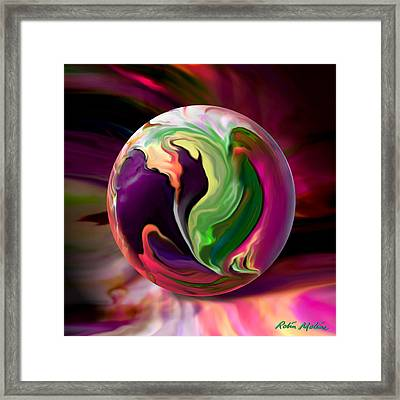 Jack In The Pulpit Globe Framed Print by Robin Moline