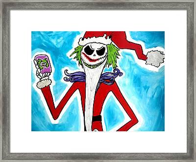 Jack-joke As Santa  Framed Print by Jera Sky
